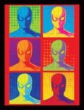 Spider-Man: Homecoming - Pop Art (Affiche, Film, Super-héros, Marvel Comics) Reproduction encadrée pour collectionneurs
