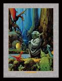 Star Wars, La Guerre des étoiles - Yoda (Poster, Film, Saga, Science-Fiction) Reproduction encadrée pour collectionneurs