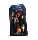 The Doctor and Bill Potts in the TARDIS - Doctor Who Cardboard Cutouts