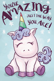 "Unicorno - testo ""You are amazing just the way you are""  Poster"