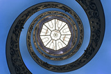 Dolce Vita Rome Collection - The Vatican Spiral Staircase Dark Blue Photographic Print by Philippe Hugonnard