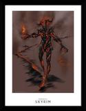 Skyrim - Atronach della fiamma Stampa del collezionista