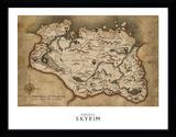 Skyrim - Landkaart verzamelaarsprint Verzamelaarsprint