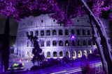 Dolce Vita Rome Collection - Colosseum at Purple Night Photographic Print by Philippe Hugonnard