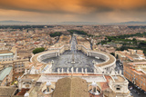 Dolce Vita Rome Collection - The Vatican City at Sunset Photographic Print by Philippe Hugonnard