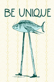 Tekst 'Be Unique'  Poster