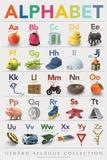 Lehrposter - Alphabet  Poster von  Gerard Aflague Collection