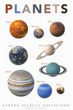 Lehrposter - Planets  Kunstdrucke von  Gerard Aflague Collection