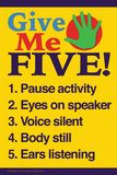 Give me five (gi' mig fem) Plakater af  Gerard Aflague Collection