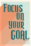 "Testo ""Focus on your goal""  Poster"