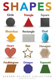 Lehrposter - Shapes  Poster von  Gerard Aflague Collection