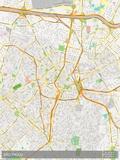 Sao Paulo, Brazil Map Prints