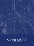 Minneapolis, United States of America Blue Map Bilder