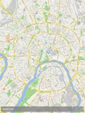 Moscow, Russian Federation Map Fotografia