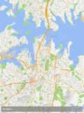 Sydney, Australia Map Foto