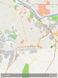 Mapa de Lucknow, Índia Pôsters