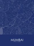 Mumbai, India Blue Map Pôsters