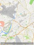 Mapa de Mumbai, Índia Pôsters