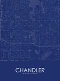 Chandler, United States of America Blue Map Bilder