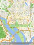 Washington, D.C., United States of America Map Plakater