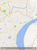 Mapa de Varanasi, Índia Fotografia