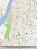 Mapa de Calcutá, Índia Pôsteres