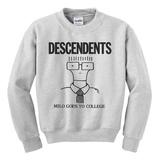 Crewneck Sweatshirt: Descendents - Milo Goes to College Tshirt