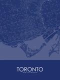 Toronto, Canada Blue Map Poster