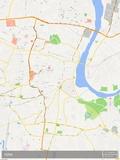 Mapa de Agra, Índia Posters