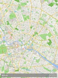 Mapa de Berlim, Alemanha Poster