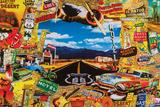 Langs de Route - Route 66 - poster Poster