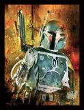 Star Wars - Boba Fett Painted Reproduction encadrée pour collectionneurs
