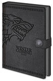 Game Of Thrones - Stark A5 Premium Notebook Journal intime & Carnet