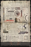 Game Of Thrones- Infographic Print