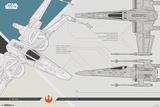 Star Wars - Episode VIII- The Last Jedi - X-Wing Prints