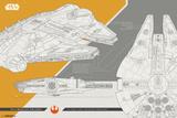 Star Wars - Episode VIII- The Last Jedi- Millennium Falcon Posters