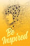 Be Inspired (Lass dich inspirieren - Motivationsposter) Kunstdruck
