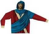 Zip Hoodie: Jesus Face Mask Moletom com zíper e capuz