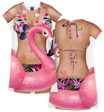 Flamingo Cover-Up レディースTシャツ