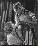 Rudolph Valentino 'The Son of the Sheik' with Vilma Banky Stretched Canvas Print by  Hollywood Historic Photos