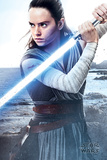 Star Wars: Episode VIII - The Last Jedi - Rey med ljussvärd Planscher