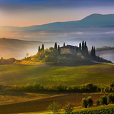 Belvedere Sunrise Tuscany Tempered Glass Art Affiches