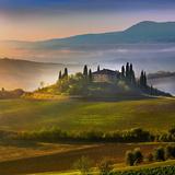 Belvedere Sunrise Tuscany Tempered Glass Art Poster