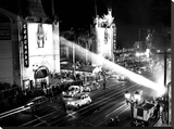 Grauman's Chinese Theatre Hollywood Blvd. 1944 Stretched Canvas Print by  Hollywood Historic Photos