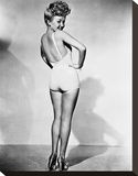 Betty Grable 1944 WWll Pinup Girl Stretched Canvas Print by  Hollywood Historic Photos