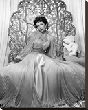 Elizabeth Taylor 1951 Glamour Shoot Stretched Canvas Print by  Hollywood Historic Photos