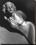 Jean Harlow 1931 Stretched Canvas Print by  Hollywood Historic Photos