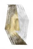 Gold & Silver Foil Stripes ポスター : ジェニファー・ゴルトベルガー
