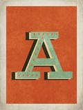 Lettera A vintage Poster di Rebecca Peragine