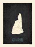 New Hampshire - sfondo nero Poster di Rebecca Peragine